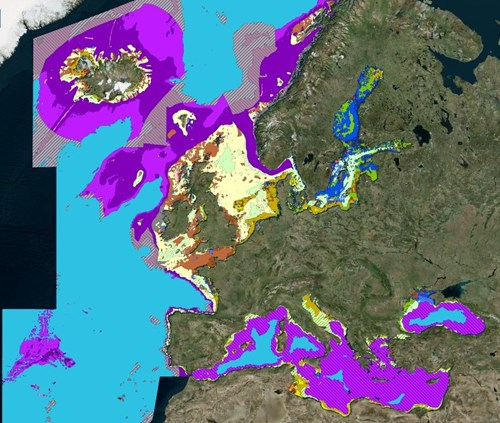 Map Of Europe With Scale.Emodnet Seabed Habitats Euseamap Broad Scale Maps
